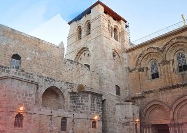 """იერუსალიმის """"უძრავი კიბე"""" - მაცხოვრის აღდგომის ტაძრის ცოცხალი ლეგენდა"""