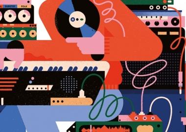 მუსიკის ინდუსტრიის 40-წლიანი გაყიდვების ვიზუალიზაცია