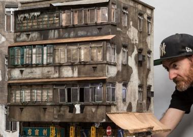 ავსტრალიელი მხატვარი შენობების გამაოგნებელ ასლებს აკეთებს