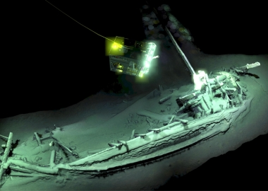 შავ ზღვაში აღმოაჩინეს მსოფლიოში უძველესი ხელუხლებელი ჩაძირული გემი