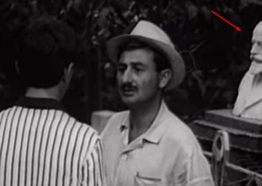 უცნობი ბიუსტი ცნობილი ფილმიდან იაკობ ნიკოლაძის შექმნილი ნოე ჟორდანიას ქანდაკება აღმოჩნდა