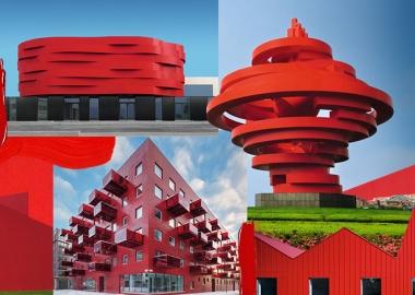 """150 """"ყველაზე წითელი"""" ნაგებობა არქიტექტურაში - Red: Architecture in Monochrome"""