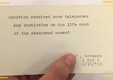 მოქალაქეების 1967 წლის შეკითხვების არქივი ნიუ-იორკის ცენტრალური ბიბლიოთეკიდან