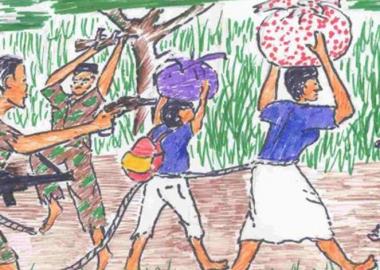 ბავშვების ნახატებში გადმოცემული შეიარაღებული კონფლიქტების ტრავმები