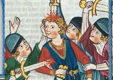 ხალხი შუა საუკუნეების ხელოვნებაში, რომლებსაც კლავენ, მაგრამ მაინც ბედნიერები არიან