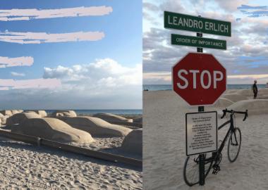 კლიმატის ცვლილების შესახებ ცნობიერების ამაღლებისთვის ხელოვანმა სანაპიროზე მასიური საცობი შექმნა