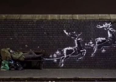 ბირმინგემში Banksy-მ თავისი ახალი ნამუშევარი უსახლკაროებს მიუძღვნა