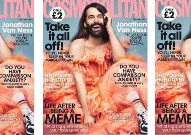 35 წლის განმავლობაში Cosmopolitan-ის ყდაზე კაცის ფოტო პირველად დაიბეჭდა