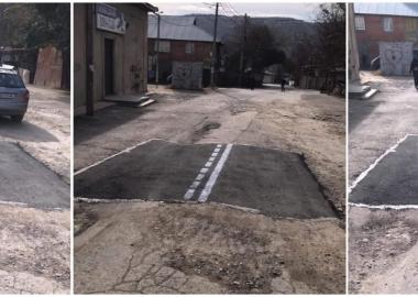 """დღის ვიდეო: """"ჩაკერებული"""" გზა სამგორის რაიონში"""