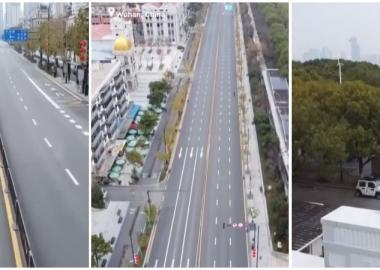 """დღის ვიდეო: """"ჩინური ვირუსის"""" ეპიცენტრის - უჰანის დაცარიელებული ქუჩები - EURONEWS"""