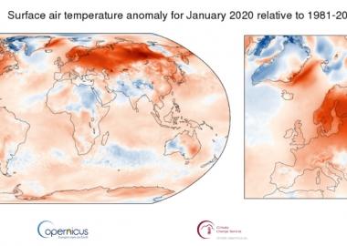 2020 წლის იანვარი რეკორდულად თბილი იყო მთელ ევროპაში