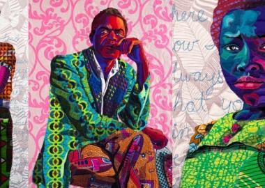 ქსოვილებით შექმნილი უნიკალური პორტრეტები, რომლებიც შავკანიანი ადამიანების ისტორიებს ინახავს