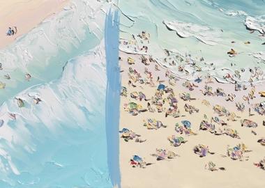 ზეთში შესრულებული ნამუშევრები სრულყოფილად ასახავს სანაპიროზე გატარებულ დასვენების დღეებს