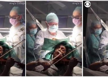 ტვინის ოპერაციის დროს პაციენტს უსაფრთხოებისთვის ვიოლინოზე აკვრევინებენ - დღის ვიდეო