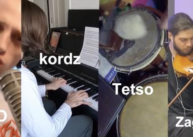 4 მუსიკოსის დისტანციური მუსიკალური გზავნილი