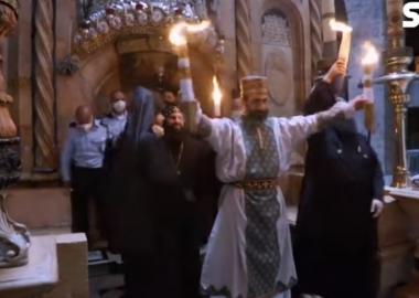 იერუსალიმში ქრისტეს აღდგომის ტაძარში წმინდა ცეცხლის რიტუალი შესრულდა - დღის ვიდეო