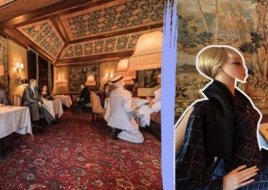 სოციალურად დისტანცირებული სადილისთვის Virginia Inn სიცარიელეს ძველებური სტილის მანეკენებით ავსებს