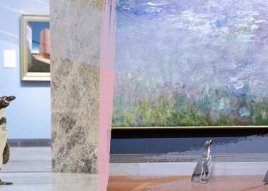 კანზასის ზოოპარკმა პინგვინებს ხელოვნების მუზეუმში იმპრესიონისტებისა და ბაროკოს კოლექციები დაათვალიერებინა