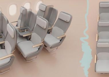 კიდევ ერთი შესაძლო სიახლე თვითმფრინავების სალონებში - Factorydesign დისტანცირების ახალ ვარიანტებს გვთავაზობს