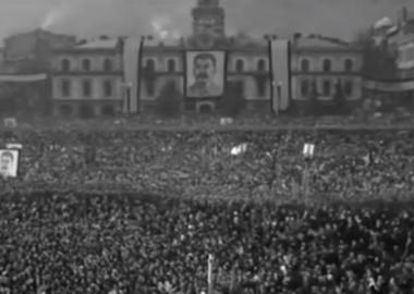 სტალინის დაკრძალვა, თბილისი - უნიკალური დოკუმენტური კადრები - დღის ვიდეო