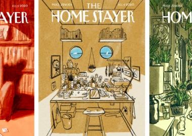 იაპონელი ილუსტრატორის დანახული სხვადასხვა ხასიათის სახლები New Yorker-ის სტილში