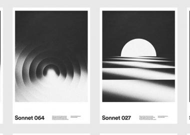 შექსპირის სონეტების გრაფიკული პოსტერები დიზაინერ ქსტიან მილერისაგან