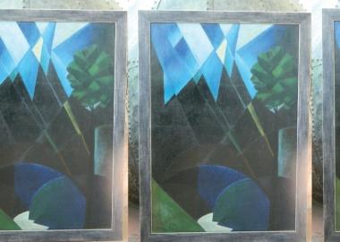 """ბენო გორდეზიანის """"ცხრაწყარო"""" - კუბისტური შედევრი ონის მხარეთმცოდნეობის მუზეუმიდან"""